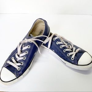 Converse Chuck Taylor Blue Leather Low Tops
